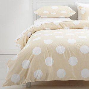 Dot Spot Queen White Doona Cover Set 2 Pillowcases